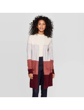 Women's Long Sleeve Open Layering Sweater Cardigan   A New Day™ S by A New Day