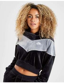 Nike Heritage Velvet Overhead Hoodie by Jd Sports