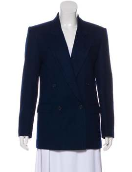 Wool Notch Lapel Blazer by Christian Dior