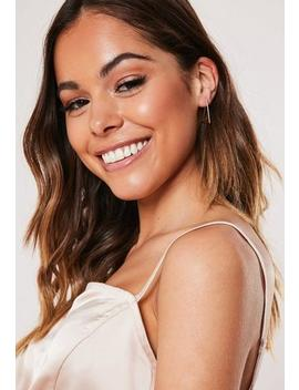 Gold Look Mini Triangle Earrings by Missguided