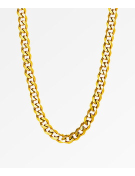 """The Gold Gods Micro Cuban 28\""""  Necklace by The Gold Gods"""