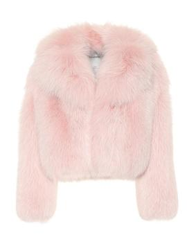 Fur Coat In Pink by Valentino