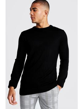 Regular Fit Long Sleeve Crew Neck Knitted Jumper by Boohoo