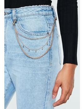 Gold Look Layered Wallet Chain by Missguided