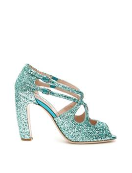 Miu Miu Glitter Pumps 100 by Miu Miu