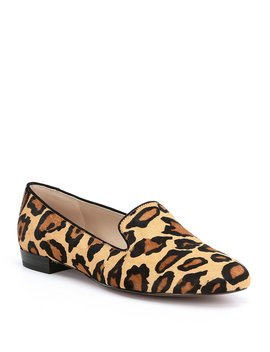 Jordy Leopard Print Brahma Hair Block Heel Loafers by Sam Edelman