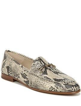Loraine Snake Print Leather Loafers by Sam Edelman