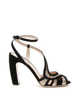 Miu Miu Glitter Sandals by Miu Miu