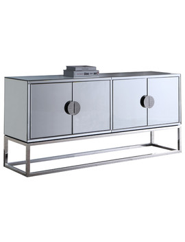 Marbella Sideboard/Buffet, Chrome Base/Handles by Meridian Furniture