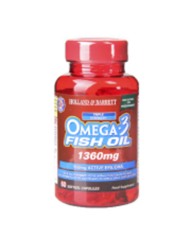Holland & Barrett Omega 3 Triple Strength Fish Oil 60  Capsules 1360mg by Holland & Barrett Omega 3 Triple Strength Fish Oil 60  Capsules 1360mg