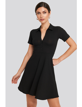 Buttoned Detailed Shirt Dress Svart by Trendyol