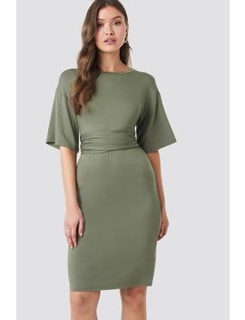 Wrapped Detail Jersey Dress Grön by Na Kd