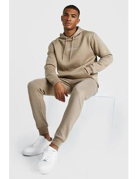 Man X Abode Skinny Hooded Tracksuit by Boohoo