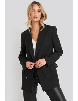 Oversized Boxy Blazer Czarny by Na Kd Trend