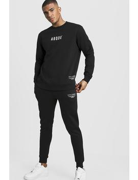 Man X Abode Sweater Tracksuit by Boohoo