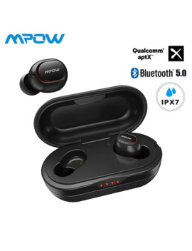 Mpow Ipx7 Waterproof T5/M5 Upgraded Tws Earphones Wireless Earbud Bluetooth 5.0 Support Aptx 36h Playing Time For I Phone Samsung by Ali Express.Com