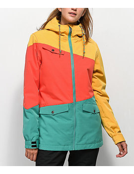 Aperture Outerlimits Green, Red &Amp; Yellow Snowboard Jacket by Aperture