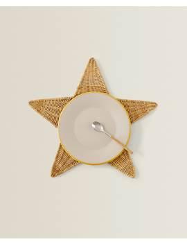 PodkŁadka Pod Talerz Z WŁÓkna W KsztaŁcie Gwiazdy  Tekstylia StoŁowe   Jadalnia   BoŻe Narodzenie by Zara Home