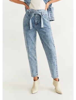 High Waist Acid Jeans by Mango