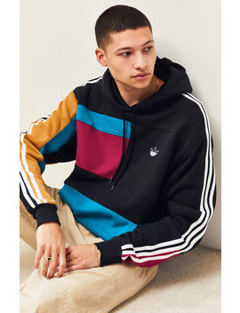 Adidas Asymmetrical Blocked Pullover Hoodie by Pacsun