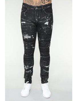 Malcom Skinny Jeans   Black by Fashion Nova