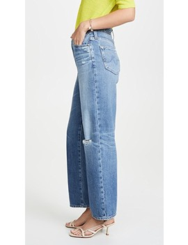 The Tomas High Rise Baggy Straight Jeans by Ag