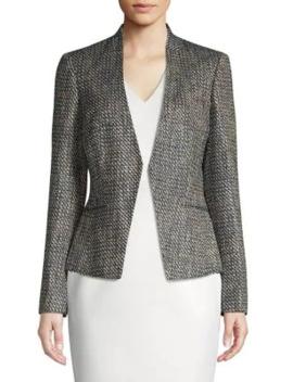 Textured Tweed Jacket by Calvin Klein