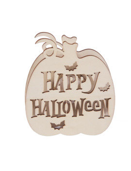 Happy Halloween Wooden Pumpkin Led Décor Accent By Artminds® by Artminds