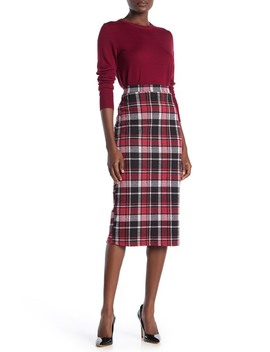 Tartan Midi Skirt by 14th & Union