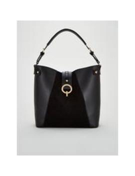 Jinnie Tote Bag With Gold Clasp   Black by V By Very