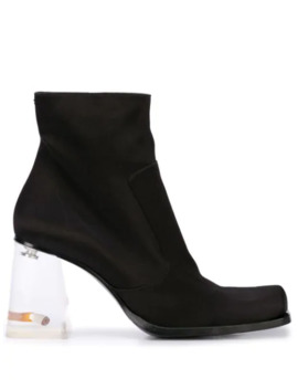 Rose And Cigarette Heel Ankle Boots by Maison Margiela