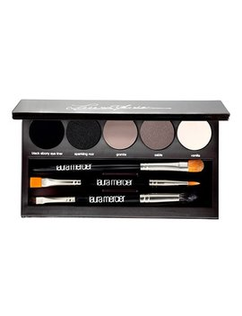 Nude Smokey Five Color Eye Shadow Palette &Amp; Brush Set by Laura Mercier