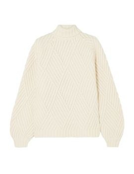 Wool Blend Turtleneck Sweater by Victoria, Victoria Beckham