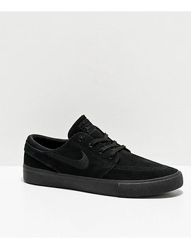 Nike Sb Janoski Rm Black Suede Skate Shoes by Nike Sb