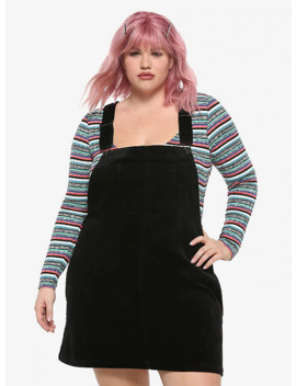 Black Corduroy Skirtall Plus Size by Hot Topic