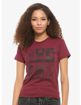 Burgundy Tarot Card T Shirt by Hot Topic