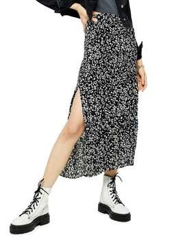 floral-print-pleat-midi-skirt by topshop