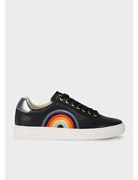 Women's Black 'rainbow' Leather 'lapin' Trainers by Paul Smith
