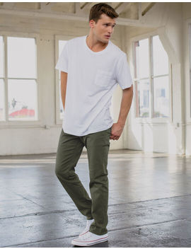 Rsq New York Slim Straight Washed Heather Olive Mens Chino Pants by Rsq