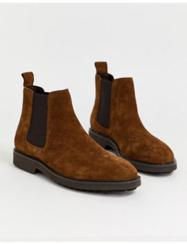 Office Chunky Chelsea Boots In Tan Suede by Asos