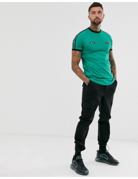 Ellesse Fede T Shirt With Taping In Green by Ellesse