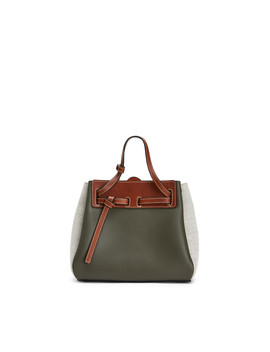 Lazo Mini Bag 				 				 				 				 				 				 				Khaki Green/Natural by Loewe