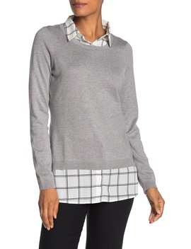 Shirttail Twofer Sweater by Adrianna Papell