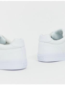 Polo Ralph Lauren – Hanford – Weiße Canvas Sneaker Mit Tonalem Polospielerlogo by Asos