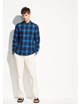 Double Face Plaid Long Sleeve by Vince