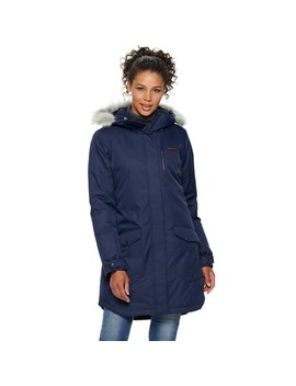 Women's Columbia Suttle Mountain Hooded Long Insulated Jacket by Columbia