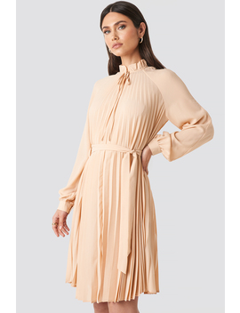 Tied Waist Pleated Skirt Dress Pink by Na Kd Trend