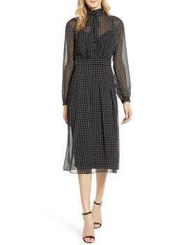 Bolshoi Dot Long Sleeve Shirtdress by Anne Klein