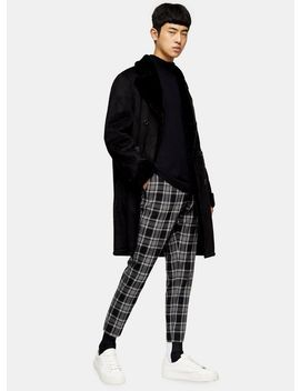 Black Longline Faux Shearling Jacket by Topman