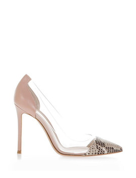 Powder & Transparent Stiletto Heels by Gianvito Rossi